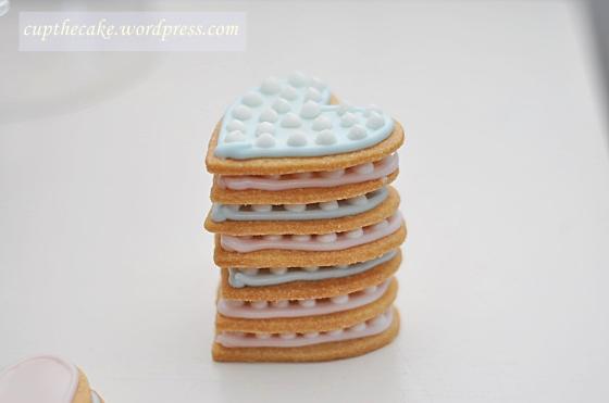 Dekorerade vaniljkakor till Alla hjärtans dag