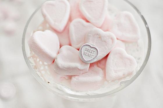 Pink Valentine's marshmallows